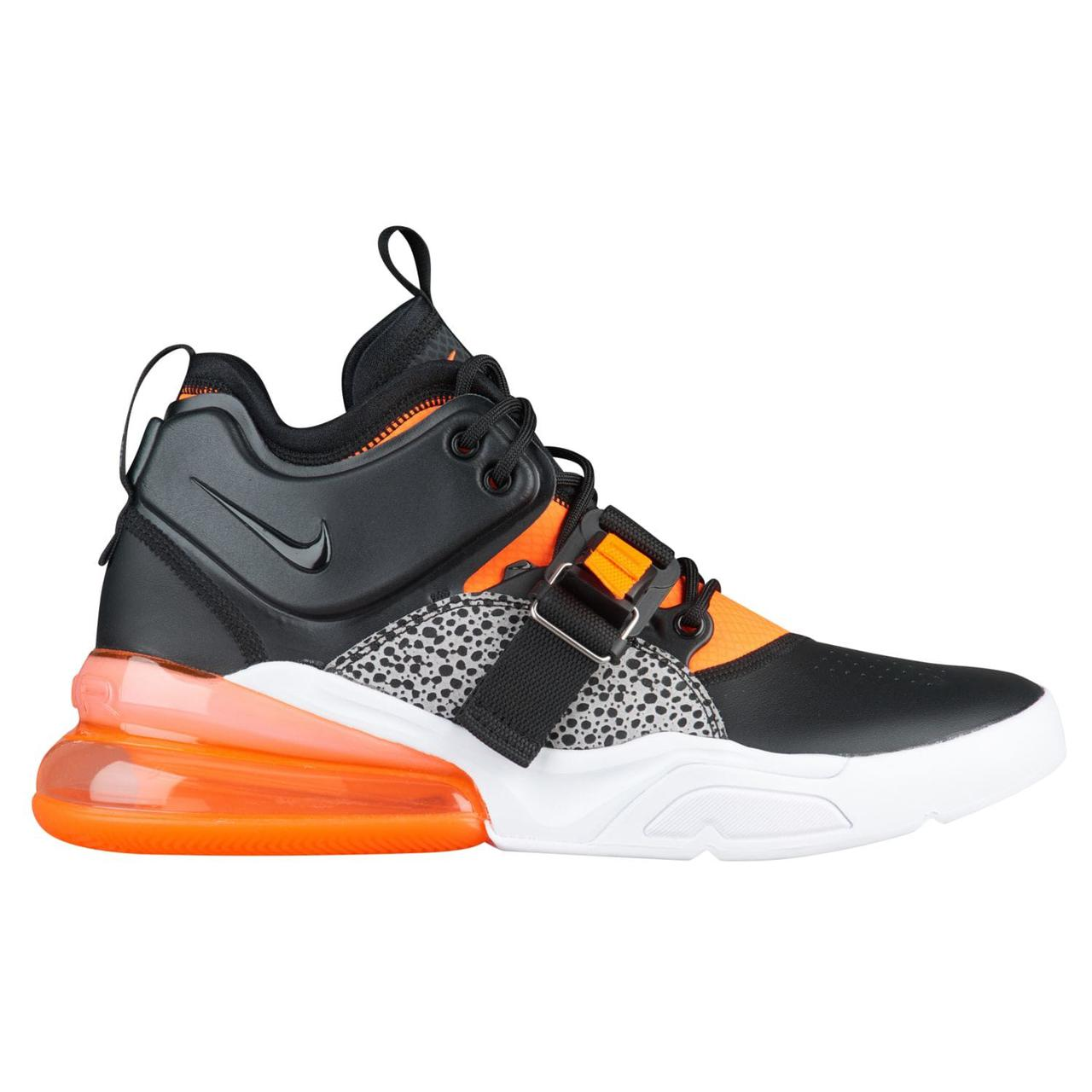 Кроссовки мужские Nike Air Force 270 Black/White/Orange
