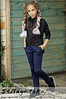 Асимметричная черная рубашка на девочку , фото 1