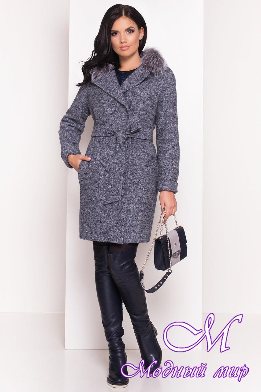 Жіноче зимове пальто з полював (р. S, М, L) арт. Пріора 5427 - 36682