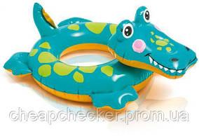 Детский Надувной Пляжный Круг Intex Крокодил