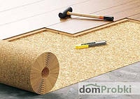 Подложка пробковая Dom Korkowy 3 мм (ПОРТУГАЛИЯ) Cork2000 (рулон 10 м²)