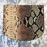 Крышка для сумки,змея коричневая