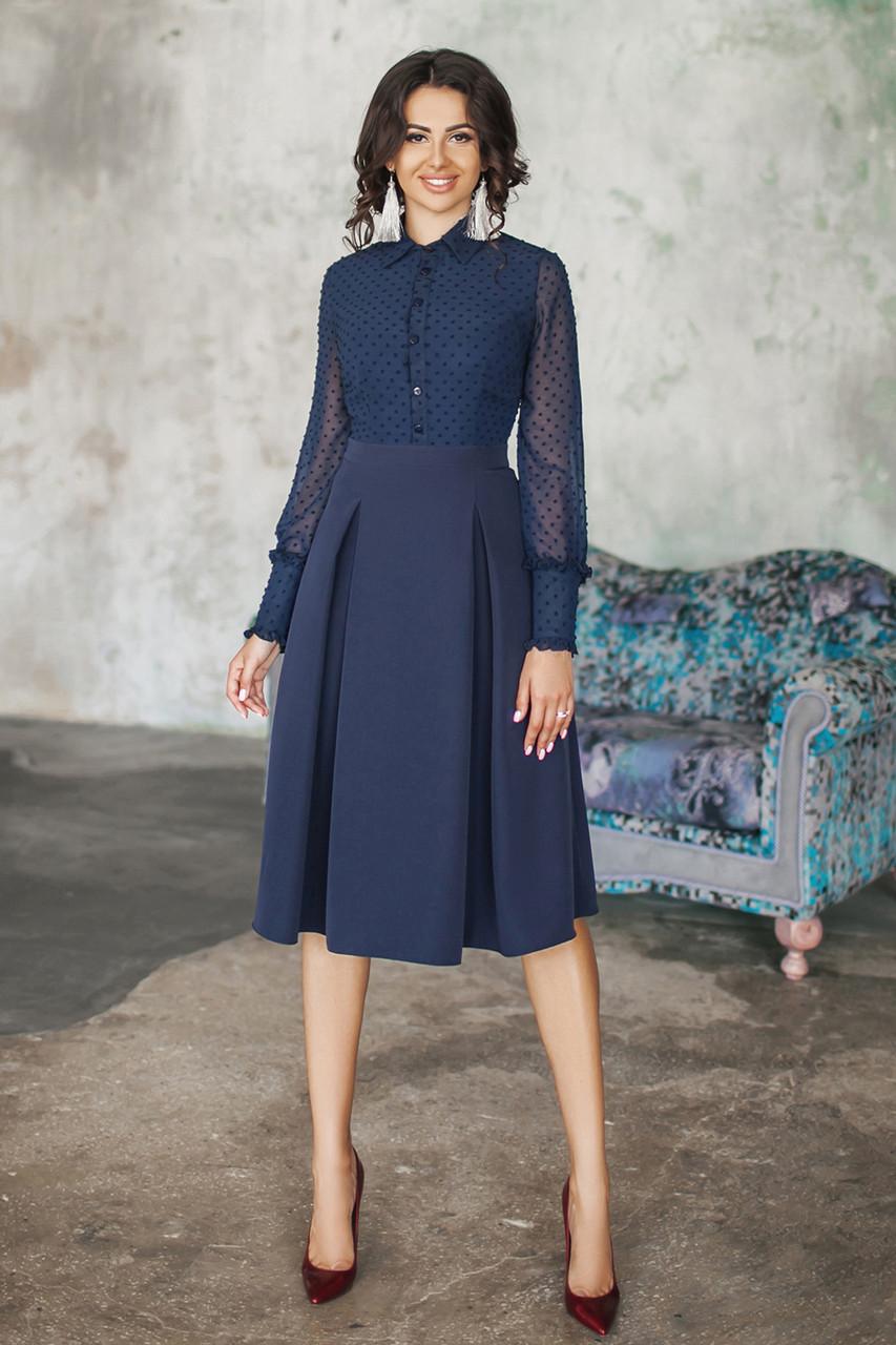 Платье Джина темно-синее