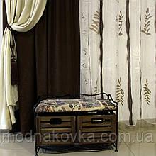Диван-этажерка лавка кованая с 2 ящиками, черная
