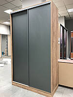 Шкаф купе на заказ c стеклами на фасаде Zola V121, фото 1