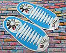 Силиконовые ленивые шнурки для обуви белые набор, фото 2