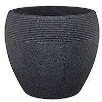 Кашпо для цветов Lineo пластик 30 гранитно-черный