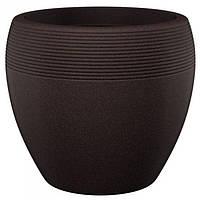 Кашпо для цветов Lineo пластик 30 коричневый