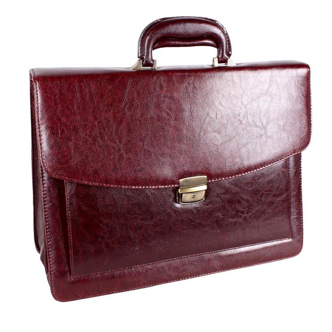Мужской портфель из искусственной кожи 303152 коричневый