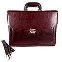 Мужской портфель из искусственной кожи 303152 коричневый, фото 4