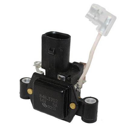 Интегральный регулятор напряжения со щёточным узлом 848.3702 (ВАЗ-1118), фото 2