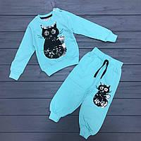 Комплект джемпер и штаны с двусторонними пайетками для девочек оптом р.1-2-3-4года