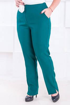 Классические женские брюки размер плюс Джуди малахит (52-60)