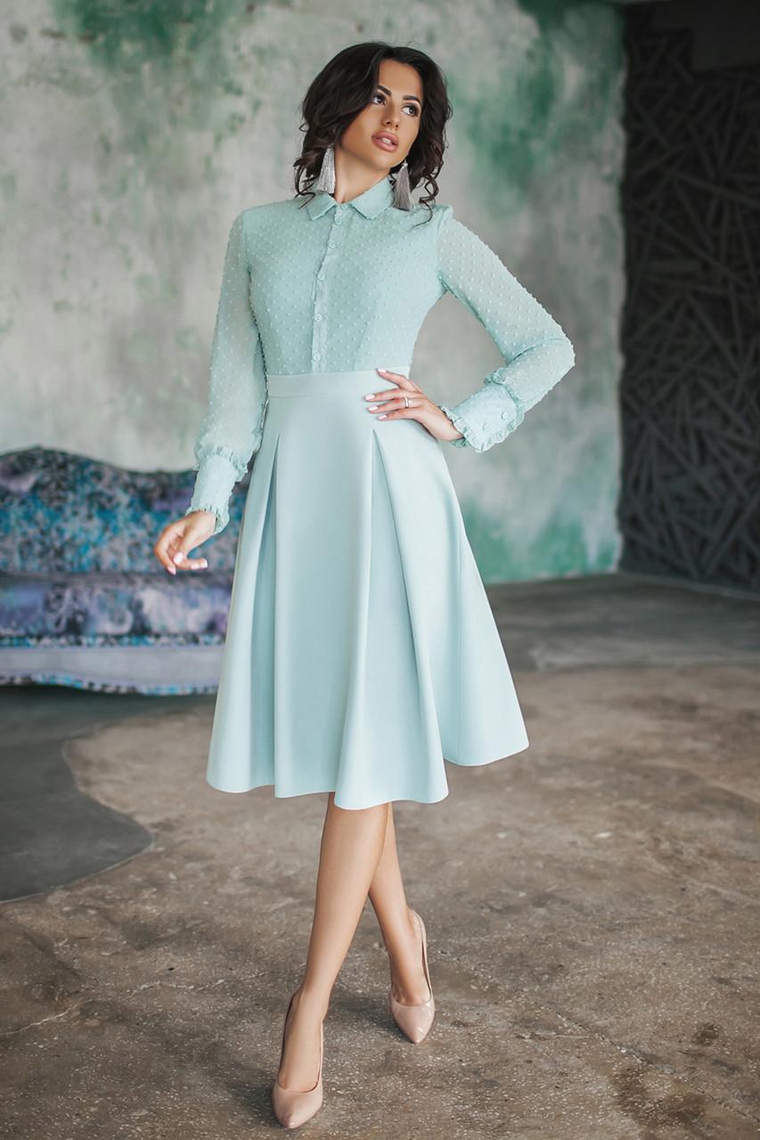 Платье Джина в мятном цвете