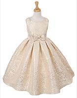 Красивое нарядное платье из жаккарда на девочку 10 -11 лет