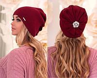 Красивая женская шапка с укашением сзади (разные цвета) df730ce3467b8