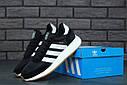 Кроссовки черные мужские Адидас Иники (Adidas Iniki) размер 40, 41, 42, 43, 44, 45 реплика, фото 2