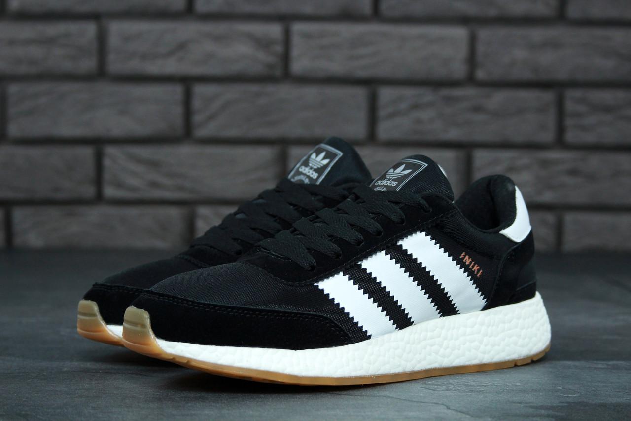 47816fb5aae Кроссовки черные мужские Адидас Иники (Adidas Iniki) размер 40
