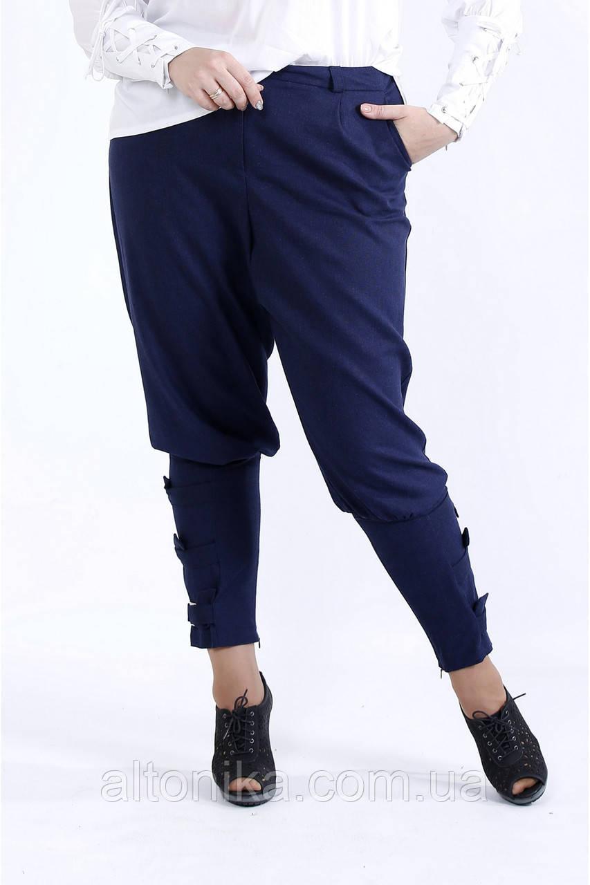Свободные удобные женские брюки. Размеры: 42 44 46 48 50 52 54 56 58 60 62 64 66 68 70 72 74