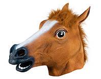 Карнавальная Резиновая Маска Голова Коня Лошади Прикол для Вечеринки, фото 1