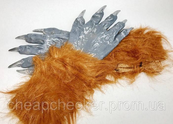 Карнавальные Волосатые Резиновые Перчатки Прикол для Вечеринки Маскарад