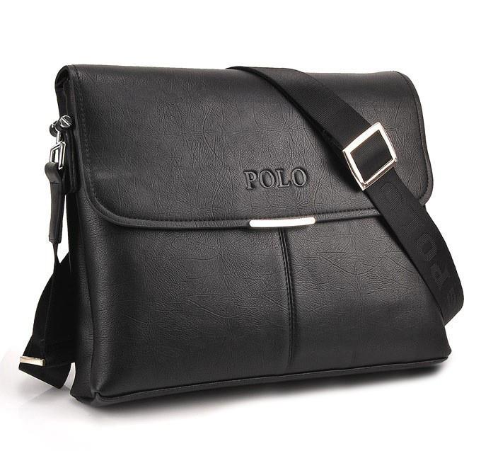 Мужская сумка через плечо большая Polo Blum