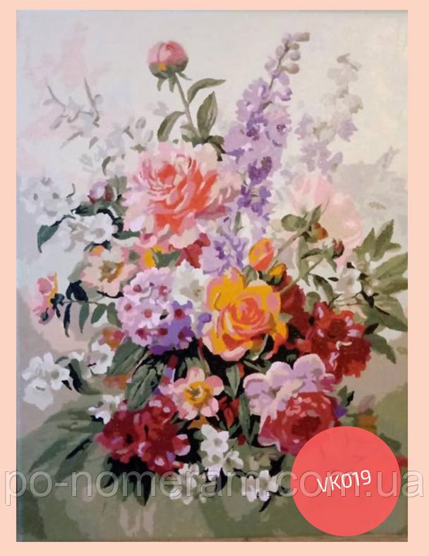 рисовать акрилом букет цветов