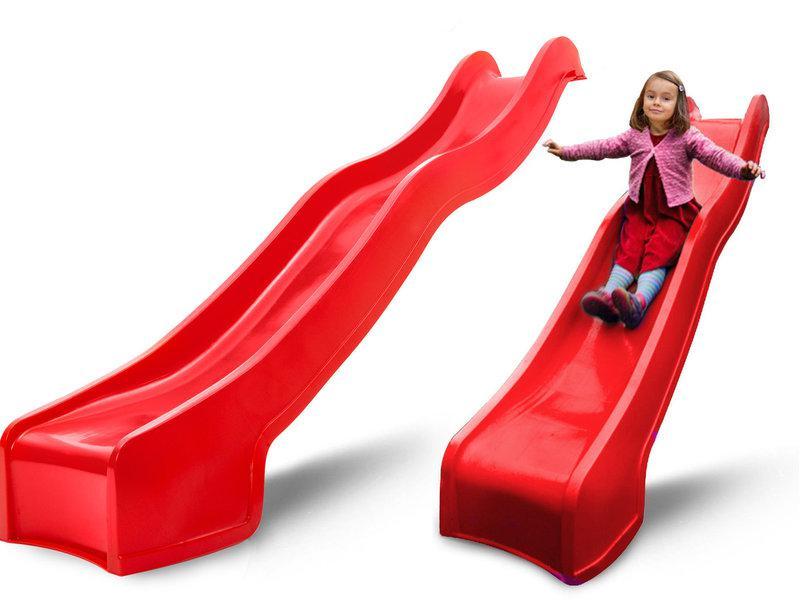 Горка детская пластиковая, спуск 2,2 метра. Цвет красный.
