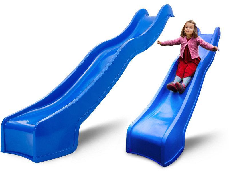 Горка детская пластиковая, спуск 2,2 метра. Цвет синий.