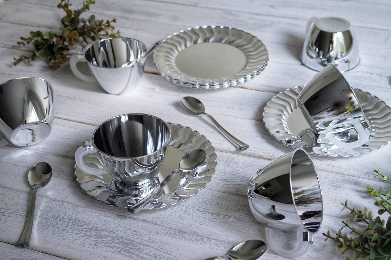 Чайно-кофейный набор праздничный стеклопластик для фуршета выездного банкета праздничного стола CFP 6шт 130мл