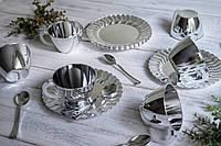 Чайно-кофейный набор праздничный стеклопластик для фуршета выездного банкета праздничного стола CFP 6шт 130мл, фото 1