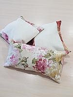 Комплект подушек  молочные с вставками Розы, 3шт