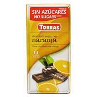 """Черный шоколад c апельсином """"Torras"""", 75 г"""