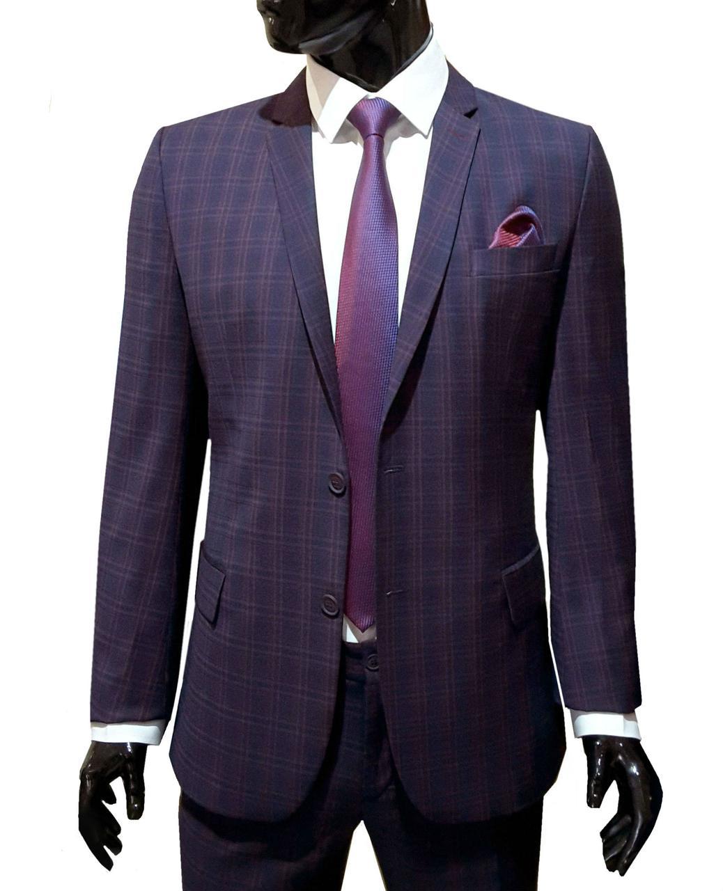 Классический мужской костюм в клетку № 94/5-124 -  PT 1088