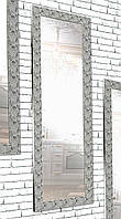 Зеркало настенное Factura в пластиковом багете Silver pattern 60х174 см серебро, фото 1