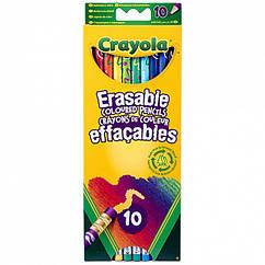 10 цветных карандашей Crayola с ластиками (3635). Оригинал