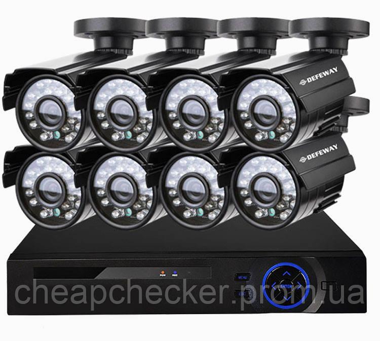 Комплект Видеонаблюдения на 8 Камер DVR KIT CAD 8008 WiFi 8ch Видеорегистратор
