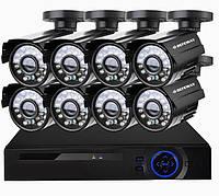 Комплект Видеонаблюдения на 8 Камер DVR KIT CAD 8008 WiFi 8ch Видеорегистратор, фото 1