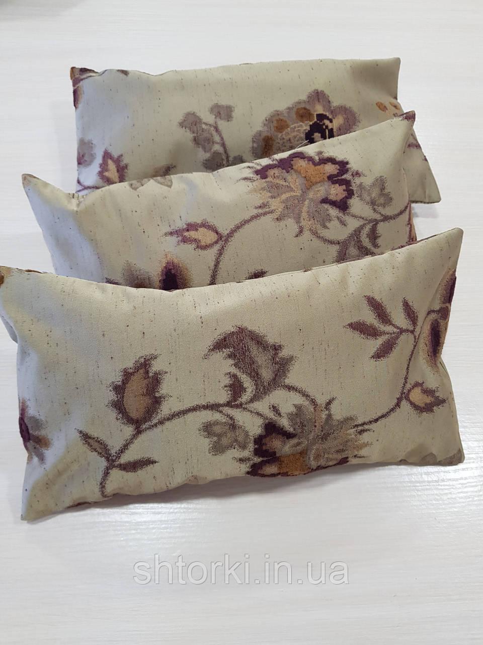 Комплект подушек  песочные с цветами 3шт