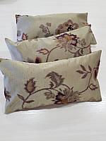 Комплект подушек  песочные с цветами 3шт, фото 1