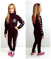 Вишневый спортивный костюм для девочки Converse , фото 1