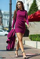ФЛ1145 Платье и кейп двойка, фото 1