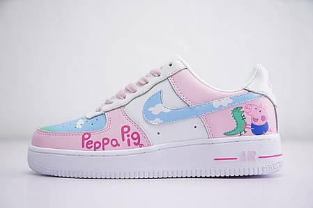 кроссовки Nike Air Force Peppa Pig белые розовые