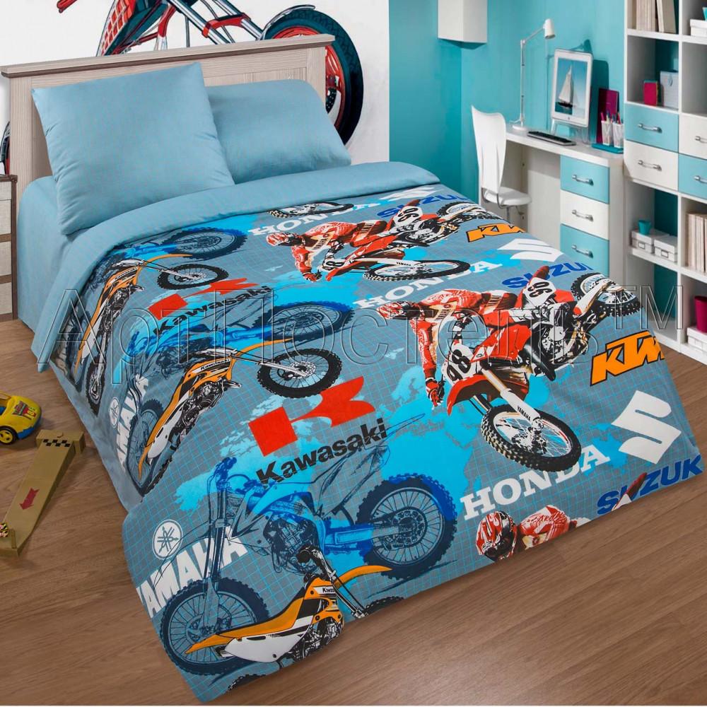Постельное белье Мотокросс поплин ТМ Комфорт текстиль (в детскую кроватку)