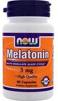 Мелатонин от бессонницы Now Foods Melatonin (5mg) 60vcaps