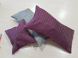 Комплект подушек сирень с цветами 3шт, фото 2