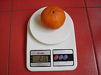 Электронные кухонные весы до 7 кг+батарейки , фото 1
