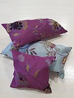 Комплект подушек сирень с цветами 3шт