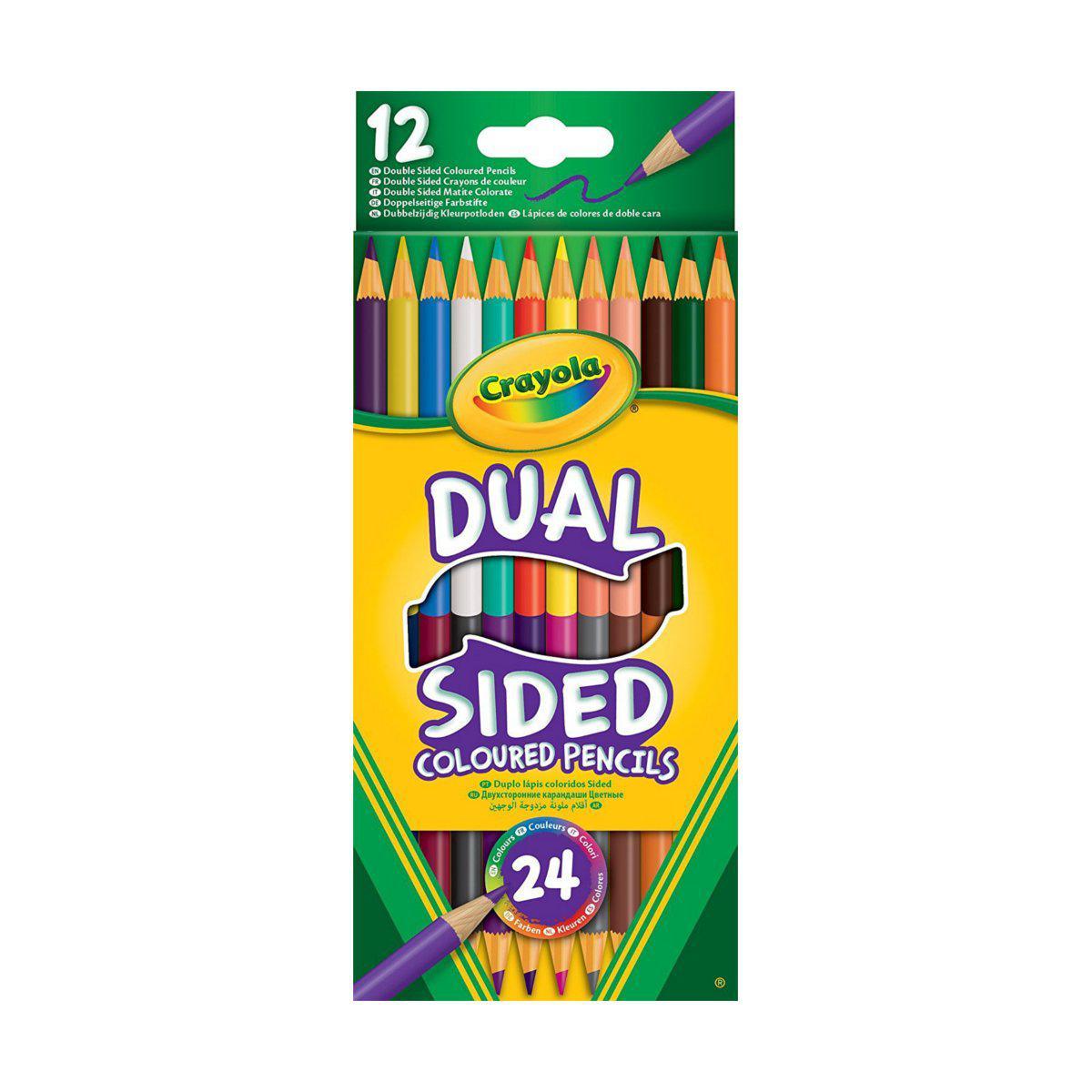 12 двухсторонних цветных карандашей 24 цвета Crayola (68-6100)