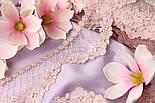 Кружево розового цвета с кордовыми розочками и ромбами, 9 см, фото 3